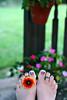 Flower Power FUTAB (Kerrie Lynn Photography (Sugaree_GD)) Tags: flower feet up tattoo outside outdoors backyard toes break deck taking tattooed sugareegd futab artsyfartsyfeet