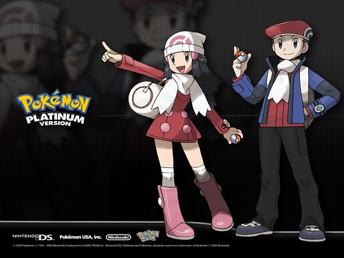 Pokemon Platinum Girl and Boy