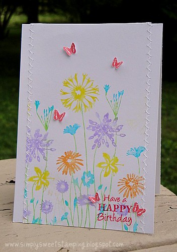 Butterflies & Wildflowers Card