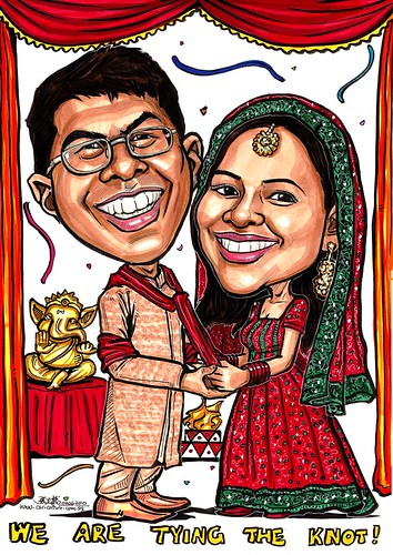 Traditional Indian wedding couple A3
