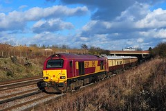 67019 (in near perfect sunlight) has just passed Swanley Station with the 1Y40 London Victoria - Gillingham (Kent) - London Victoria run 26-2-10 Copyright I Cuthbertson (I C railway photo's) Tags: class67 skip 67019 ews swanley