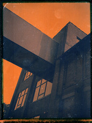 Polaroid Colorpack IV / Butler Center (Michael Raso - Film Photography Podcast) Tags: butler newjerseyusa chemicalpeel fujifilmfp100c polaroidcolorpackii butlercenter butlernewjersey