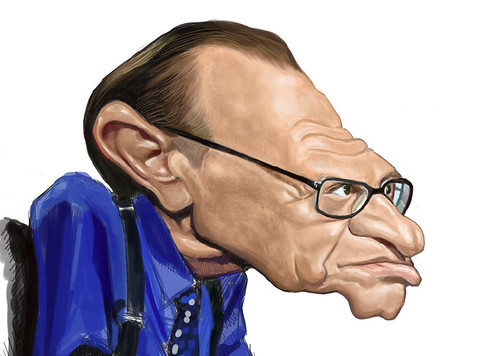 digital caricature of Larry King - 3