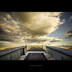 the clouds above my head (alvin lamucho ©) Tags: bridge winter clouds vintage poetry poem december angle path jetty grunge tide low wide perspective walkway kuwait jt 1022mm thick hdr lightroom uwa cs4 souksharq tomasito alvinlamucho thecloudsabovemyhead creamiervintage