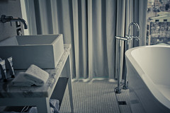 Day 10,586 / Bathroom Stories (Charles Wonderland*) Tags: canon bathroom taiwan bathtub taipei 24mm 550d ambiencehotel 24mmf14lii
