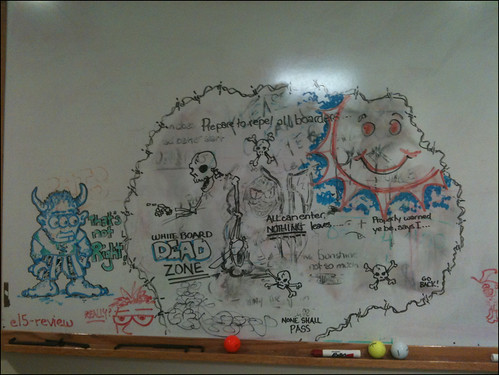 Whiteboard doodling