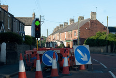What would you do (DarrelBirkett) Tags: green trafficlight roadworks d333