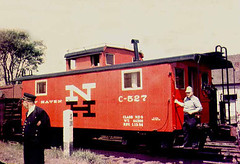 New Haven Railroad caboose  C-527 in 1956. From the internet.