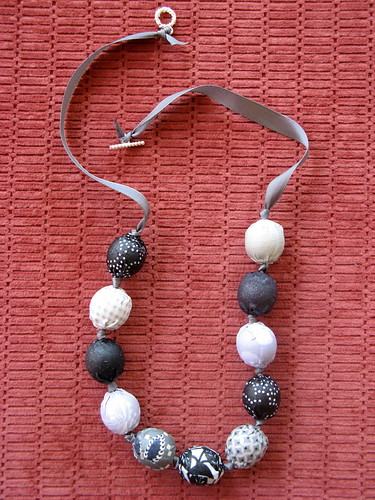 Fabric Covered Necklace