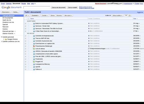 Google documents screenshot