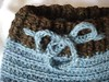 **SALE** Blue with Brown Trim Crocheted Wool Soaker (small)