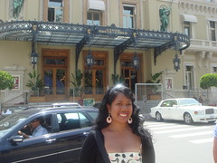 Me in front of the Monte Carlo Casino