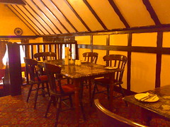 Interior of the Stair Arms Hotel and Restaurant just outside of Edinburgh