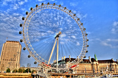 London Eye - HDR (lolstaticx) Tags: london londoneye londres ferriswheel hdr londonhdr