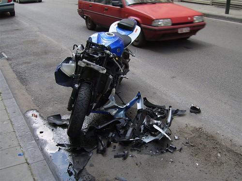 Crushed Motorbike