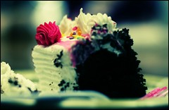 Acid Washed Birthday Cake (vyxle) Tags: birthday pink blue party food white black blur color childhood cake happy dof candy sweet bokeh chocolate tasty sugar depthoffield explore icing vanilla treat frosting urbanacid explore305