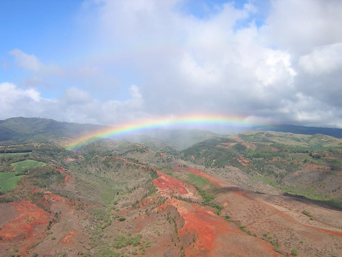 Rainbow from Helicopter Tour of Kauai