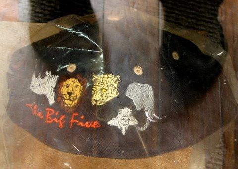 the big 5 cap in the souvenir shop