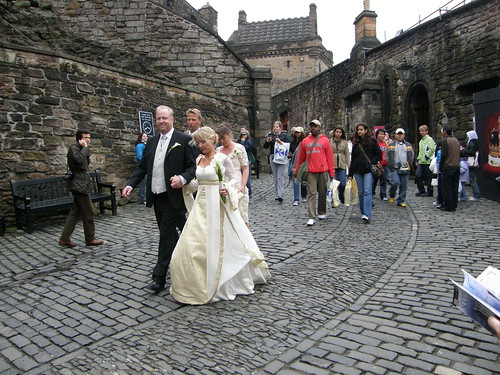 Newly wed in the Edinburgh castle