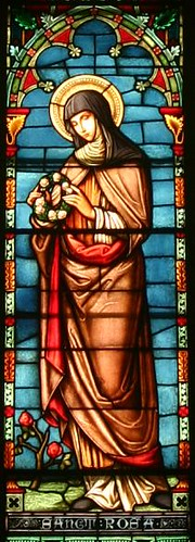 Vitral de Rosa de Lima St Rose of Lima