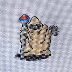 Wizard (benjibot) Tags: crossstitch crafts videogames crop nes dragonwarrior reshoot
