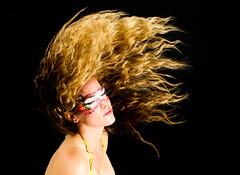 Retrograde motion (Ashton Sterling Photography) Tags: hair paint blonde facepaint kiwi crazyhair wavyhair flippinghair strobist masquefacepaint facepaintbykiwi