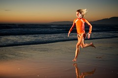 beach sprint (jpaulus) Tags: ocean reflection beach hair tim athletic sand waves pacific athlete d90 strobist tadder