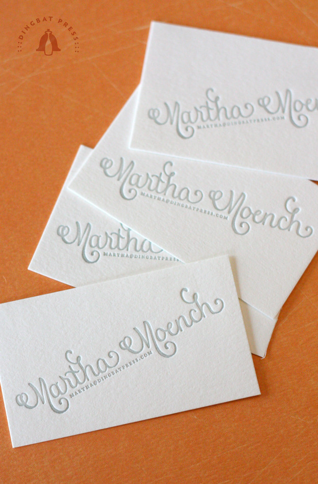 Martha Moench, Calligraphy Calling Card!