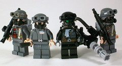 Weird War II Germans (*Nobodycares*) Tags: lego worldwarii elite guns minifigs powers axis alternate germans gasmasks brickarms miniguns minifigcat weirdwarii