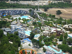 Six Flags Magic Mountain - Hurricane Harbor Aerial
