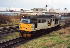 31 200, Warrington Arpley, 6/3/1992. (Rick1886) Tags: warrington britishrail class31