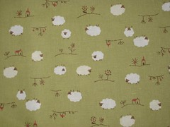 Sheep on linen
