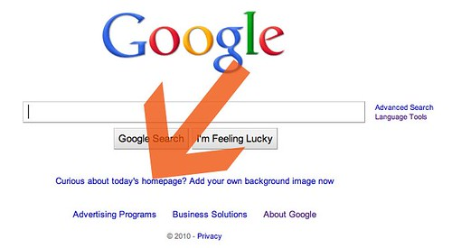 Google home page back