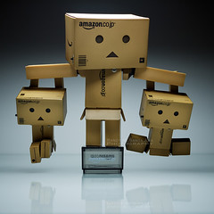 066/365:  Who Weighs More Now? (Randy Santa-Ana) Tags: toys heavy weight danbo gf1 project365 danboard minidanboard minidanbo 365daysofdanbo danbopose