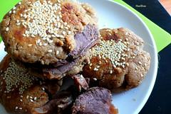 HuoShao..Beijing. (11) Tags: breakfast beef sesame homemade streetfood   sesamesauce delisious   huoshao  roastedbeef          idoitmyslef