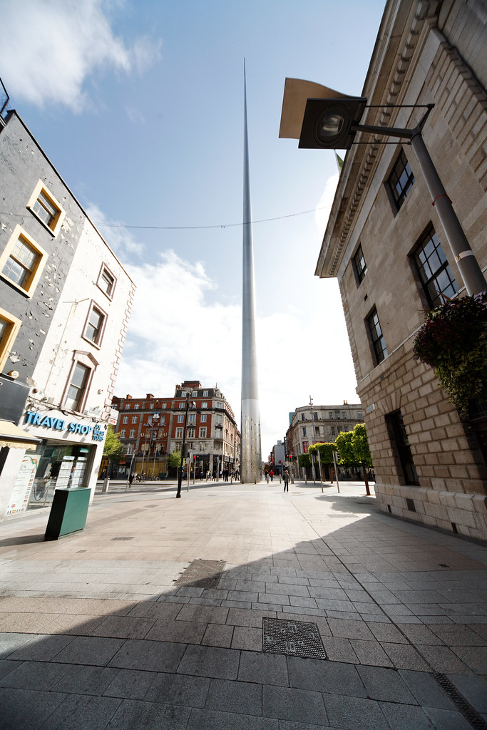 Wide Angle View Of The Dublin Spire
