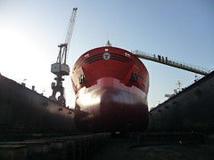 Odfjell Tanker in Dry Dock (Gunnar the Grey) Tags: sea dock faith bow tanker odfjell