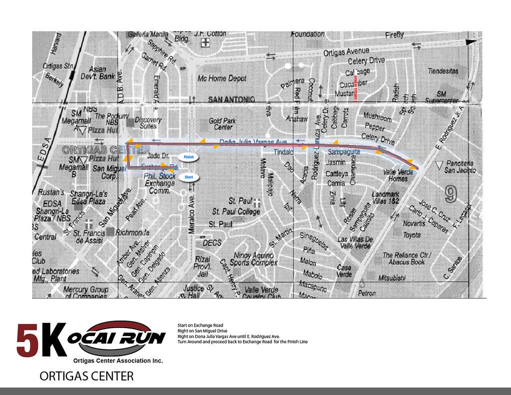 OCAI Run 2010 5K Race Map