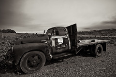 Chevrolet:  An American Tradition (syphlix) Tags: california blackandwhite monochrome wine sonoma mobil grapes 1022mm chervrolet geyserville canon7d