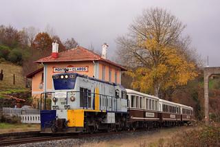 GECO 1503 con tren histórico de Feve en Montes Claros