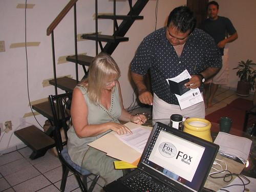 Sylvia signs docs