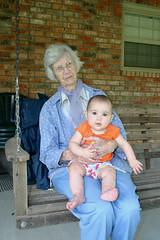 Emma & Grannie Swinging (Mish Mish) Tags: emma swinging 6months grannie broaddus memorialdayweek