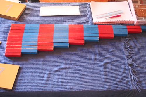 Calcul, les bâtons rouge et bleu