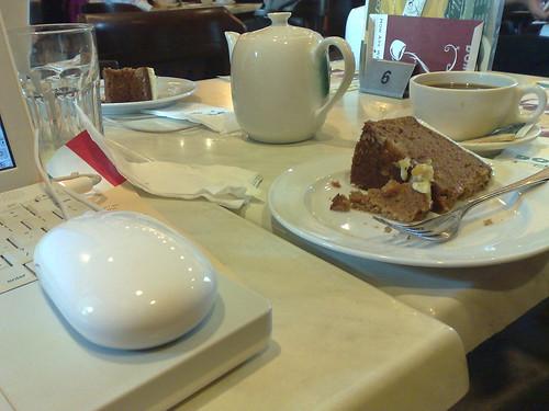 Working en cafe