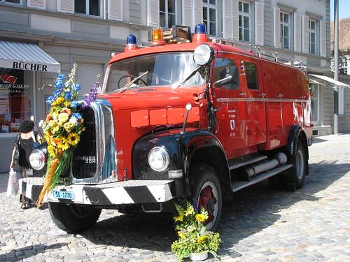 Feuer und Flamme: TLF aus St. Gallen