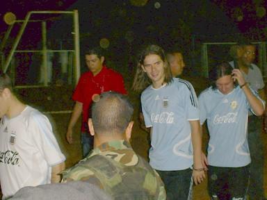 Jugadores de Argentina despues del entrenamiento