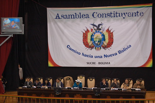 Assembly meeting in Sucre