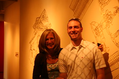 Ben Chickadel w/ Deborah Paine (Tiny Haus) Tags: show shadow art paper gallery ben cut contemporary cuttings chickadel