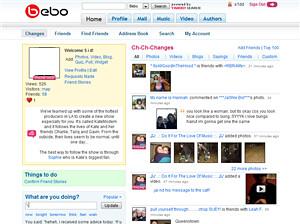 Bebo Homepage