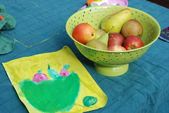 Leah's fruit bowl painting